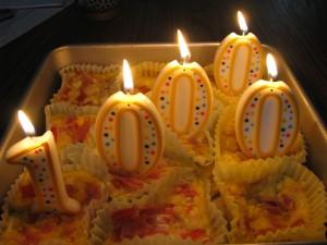 Quiche cupcakes as 10000 days celebration